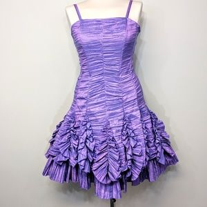 Jessica McClintock Ruffled Party Dress